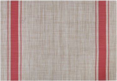 Home4you Textiline Table Mat Beige/Red