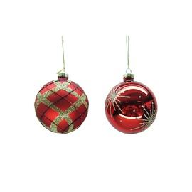 Ziemassvētku eglītes rotaļlieta Christmas Touch EBV945041/EBQ946009, sarkana, 4 gab.