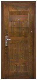 Plieninės vidaus durys JCA01, rudos, kairinės, 86x205 cm