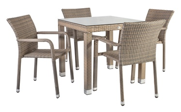 Home4you Larache K21207 Table And Four Chair Set Grey