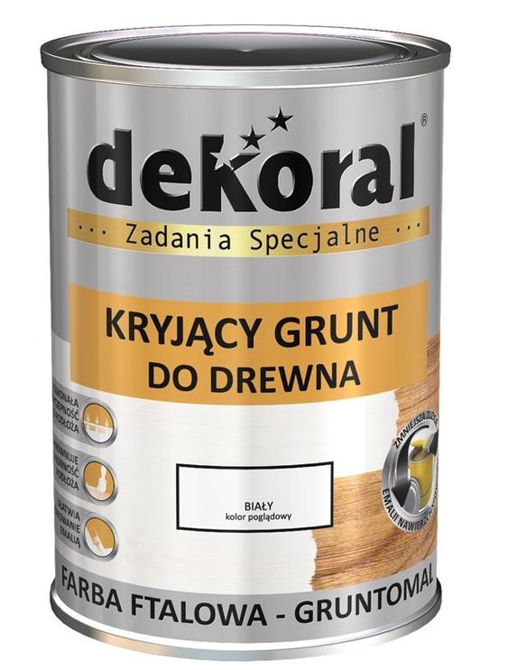 Gruntiniai dažai Dekoral Gruntomal, balti, 0,9 l
