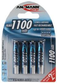 Ansmann Micro NiMH rechargeable battery AAA 1100mAh x 4