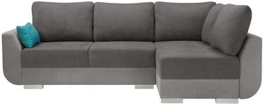Black Red White Largo Lux 3DL.RECMU Corner Sofa Grey/Blue