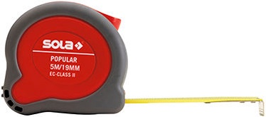 Sola Popular PP Grey/Red Tape Measure 5m