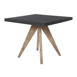 Home4you Sandstone Garden Table Black