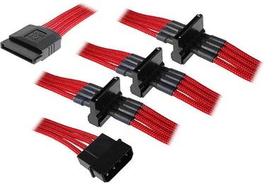 BitFenix Alchemy Molex To SATA 4x Adapter 20cm Red