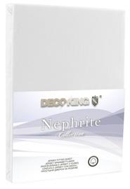 Palags DecoKing Nephrite, balta, 140x200 cm, ar gumiju