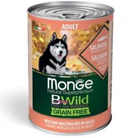 Влажный корм для собак Monge BWild Chunkies In Gravy Adult Salmon With Pumpkin And Zucchini, 0.400 кг