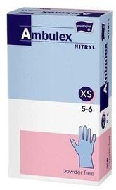 Matopat Ambulex Nitryl Powder Free Gloves XS Blue