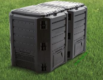 Prosperplast Composter Ekobat Module 2-Sections 800L IKSM800C Black 3185186