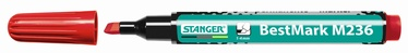 Stanger M236 BestMark Permanent Marker 1-4mm 10pcs Red 712006