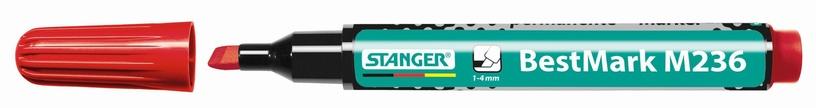 Veekindel marker Stanger M236 BestMark Permanent Marker 1-4mm 10pcs Red 712006