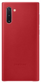 Samsung Leather Back Case For Samsung Galaxy Note 10 Red