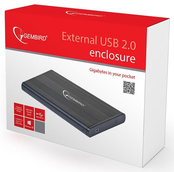"""Gembird 2.5"""" HDD External Enclosure w/ mini USB 2.0"""
