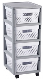 Curver Infinity Chest Perforated 4x11L White/Gray