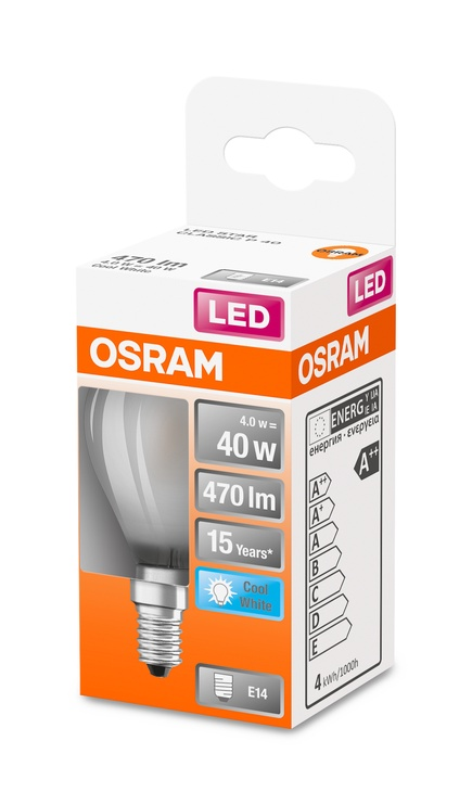 LAMPA LED P45 4W E14 4000K 470LM MAT