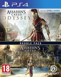 PlayStation 4 (PS4) mäng Assassin's Creed Origins and Odyssey Double Pack PS4