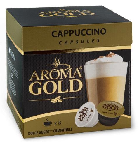 Aroma Gold Capuccino Coffee Capsules 8pcs 186.4g