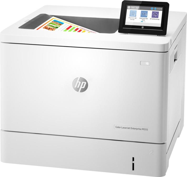 Лазерный принтер HP LaserJet Enterprise M555dn, цветной