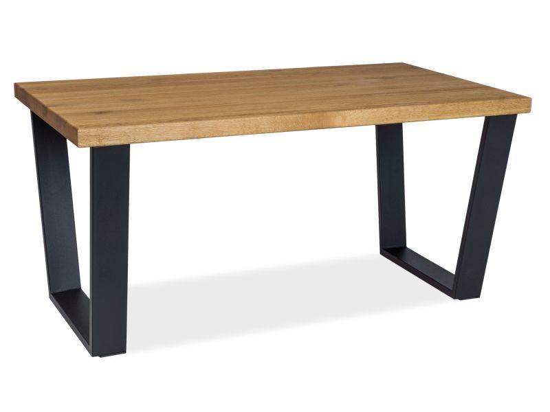 Signal Meble Valentino B Coffee Table/Bench 110x60cm Oak/Black