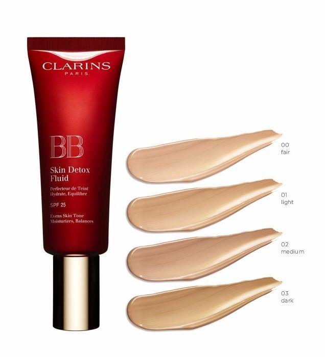 BB sejas krēms Clarins BB Skin Detox Fluid SPF25 02, 45 ml