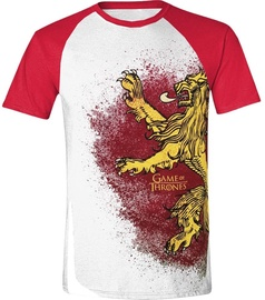 Licenced Game Of Throne Painted Lannister Raglan T-Shirt White/Red L