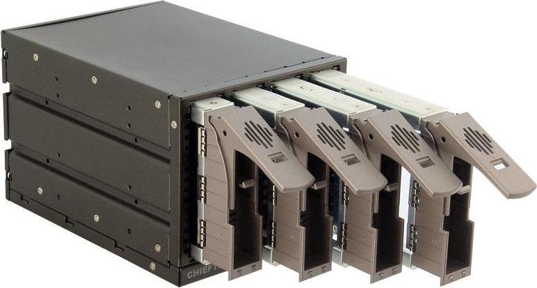 Chieftec SST-3141SAS 3x 5.25'' Bay for 4 SAS or SATA HDD Aluminium