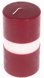 Verners Cylinder Candle 8x15cm Red/White