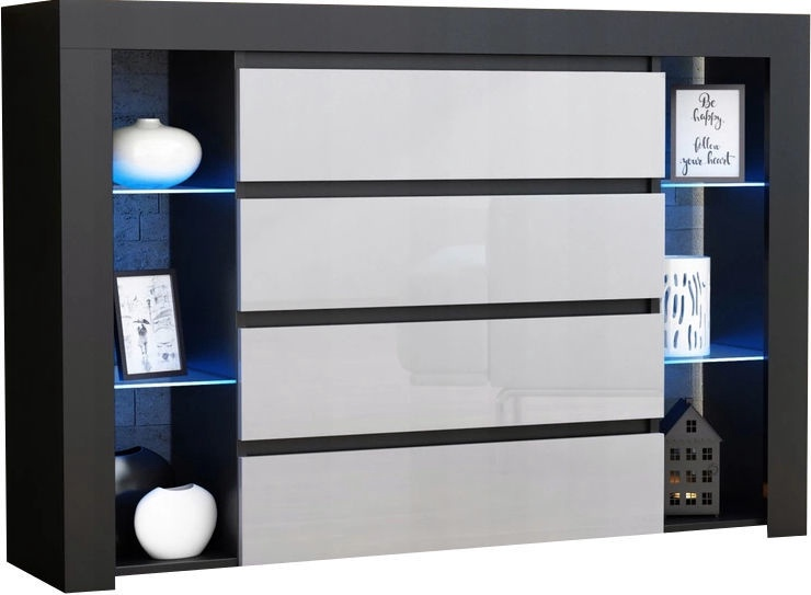 Kumode Pro Meble Milano 4SZ Black/White
