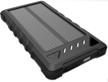 PowerNeed Power Bank 8000mAh With Solar Panel Black