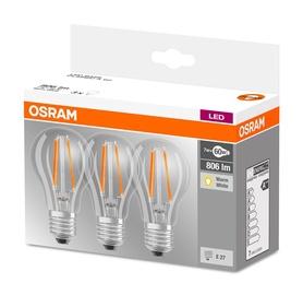SPULDZE LED FIL A60 7W E27 WW CL 3VNT 80 (OSRAM)