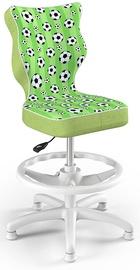 Детский стул Entelo Petit Black HC+F Size 4 ST29, белый/зеленый, 350 мм x 950 мм