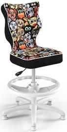 Детский стул Entelo Petit HC+F Size 4 ST28 Black/Animals, 370x350x950 мм