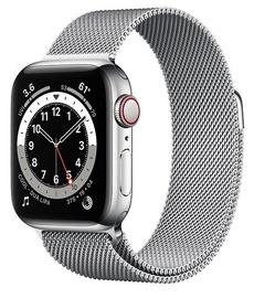 Nutikell Apple Watch 6 GPS + Cellular 40mm Stainless Steel Milanese Loop, hõbe