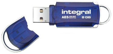 USB atmintinė Integral Courier FIPS 197, USB 3.0, 8 GB