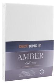 Простыня DecoKing Amber White, 240x200 см, на резинке
