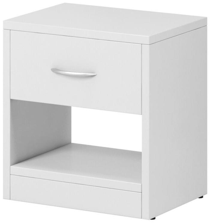 Naktinis staliukas WIPMEB Naka 1S, baltas, 39x28x41 cm