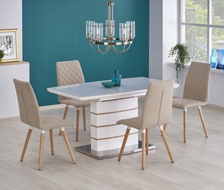 Pusdienu galds Halmar Toronto, balta/ozola, 1400 - 1800x800x760mm