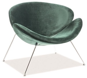 Signal Meble Major Velvet Chair Green/Chrome