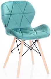Valgomojo kėdė Homede Silla Velvet Turquoise, 4 vnt.