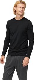Audimas Fine Merino Wool Long Sleeve Shirt Black S