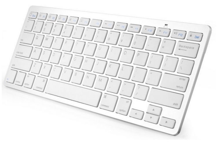 Blun KB-X5 Universal Slim Bluetooth Keyboard For Smart TV Silver
