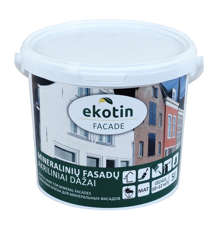 FASĀŽU KRĀSA EKOTIN FACADEBALTA 5 L