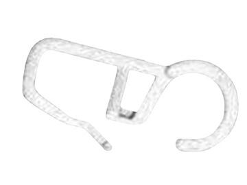 Aizkaru stangas āķīšu komplekts D28, 10gab., balti