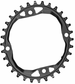 AbsoluteBlack Oval 104BCD For SH 12spd Chain 34T Black