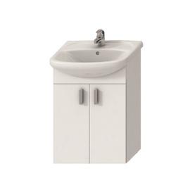 Vonios spintelė su praustuvu Jika Lyra Pack, balta