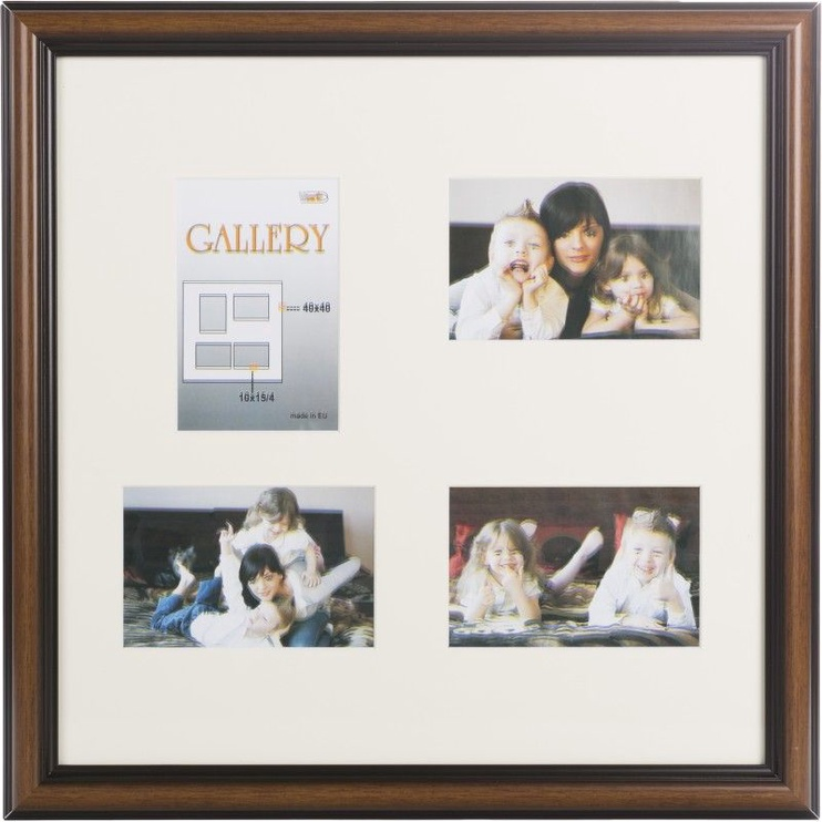 Victoria Collection Photo Frame Ema Gallery 40x40 4x 10x15 Brown