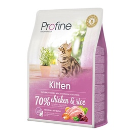 Sausas ėdalas katėms Profine Kitten, su vištiena ir ryžiais, 2 kg