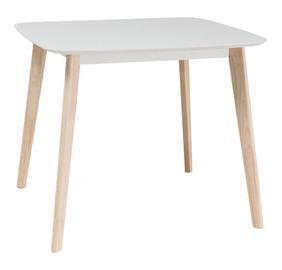 Pusdienu galds Signal Meble Tibi Oak/White, 900x800x750 mm