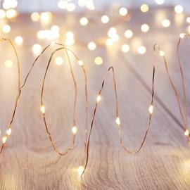 Elektriskā virtene DecoKing LED Micro Fairy, silti balta, 1 m